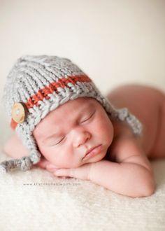 gray brick baby boy knitted hat