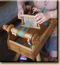 "Box loom, similar to the tapestry ""le travail de la laine""."
