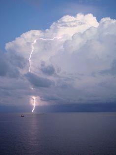 offshore,Songkhla,Thailand  10 May 2012  Streaked lightning on my heart.