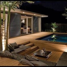 Awesome Mediterranean Deck Designs For The Summer is part of Outdoor bathtub - As a Landscape Designer, I'm often asked for tips and advice on outdoor living and garden design The single biggest […] Design Exterior, Modern Exterior, Backyard Pool Designs, Backyard Patio, Backyard Ponds, Outdoor Bathtub, Indoor Outdoor, Outdoor Living, Diy Deck