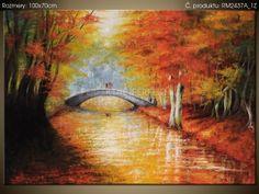 Ručne maľovaný obraz Po jesennom moste 100x70cm RM2437A_1Z