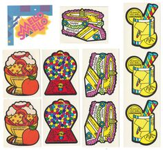 Mello Smello Vintage Scratch N Sniff Stickers
