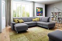 Details About Wohnlandschaft Claudia Xxl Ecksofa Couch Sofa Mit Hocker Schwarz Und Graubeige Living Room Designs Sectional Couch Room Design