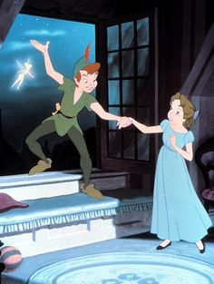 """Walt Disney's animated """"Peter Pan,"""" starring the voices of Bobby Driscoll, Kathryn Beaumont and Hans Conreid, was released on this date in Photo courtesy of Walt Disney Productions. Disney Time, Disney Magic, Disney Movies, Disney Pixar, Disney Characters, Disney Icons, Disney Xd, Disney Dream, Wendy Peter Pan"""