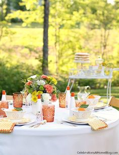Summer Entertaining + 4 Layer Orange Cake Recipe - Celebrations at Home