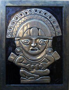 Apu-Punchau - Reprodução artística em latonagem de uma divindade Inca.