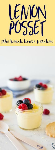 Lemon Posset | A quick little Mother's Day dessert, this Lemon Posset is velvety smooth and totally refreshing. Only 3 ingredients!