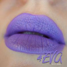 Mac 4EVA Matte lipstick Purple Lipstick, Matte Lipstick, Mac Lipsticks, How To Look Pretty, Kisses, Make Up, Hot, Beauty, Violet Lipstick
