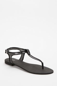 Deena & Ozzy Clear Strap Thong Sandal.