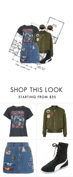 """""""#skirtday"""" by liekejongman on Polyvore featuring Topshop, Marc Jacobs, Puma and Cartier"""