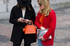 Marianne Theodorsen and Annabel Rosendahl during Copenhagen Fashion Week AW 2016