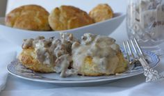 Discover my families scratch prepared biscuits and sausage gravy dish - super easy and delicious! http://accordingtobrian.com/biscuitsngravy