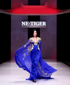 Blue Wide Sleeve Haute Couture 2012