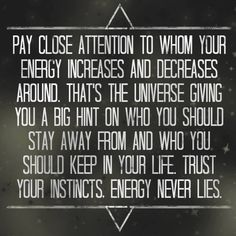 Trust yourself and the energy you get from those around you.