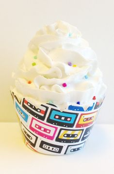 Cassette Tape 80s Theme Party Cupcake Wrappers by PrettySweetParty, $5.99
