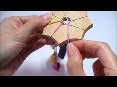 Lucet no-twist method tutorialOk - so not in English, but the clothespin spoll idea is great and it's a good visual for the simple weaving technique Lucet, Weaving Tools, Loom Weaving, Loom Knitting, Knitting Stitches, Lace Tape, Beading Patterns Free, Bracelet Tutorial, Knitting For Beginners
