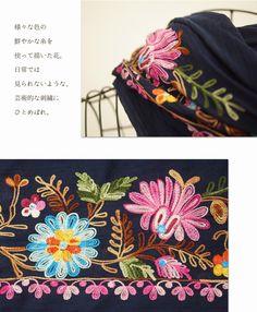 【楽天市場】【再入荷♪5月31日12時&22時より】(予約販売:6月20日-30日前後の出荷予定)(ネイビー)「mori」モロッコ花刺繍。大判ストール:cawaii