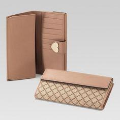 203550 Fageg 8594 Continental Geldb?rse mit eingraviertem Gucci Skript-Logo Herz-Detail Gucci Damen Portemonnaie