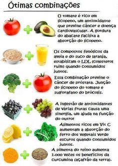 combinacoes que dao um up na absorcao de nutrientes e vitaminas dos alimentos