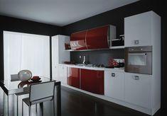 Glossy Red Kitchen Design
