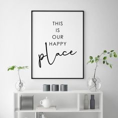 This Is Our Happy Place Print Love Couple Bedroom Decor Love Quote Print Couples Wall Art Bedroom Poster Guest Room Decor Couple Print