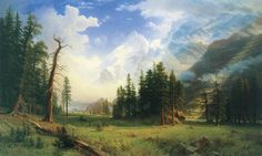 Albert Bierstadt -- Mountain Landscape, 1895. {} Great Paintings of the American West