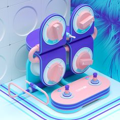 3D illustrations inspired by guitar effect pedals. Boss - Electro-Harmonix  - Moog - Line6