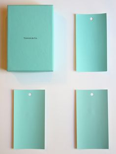Clockwise: The box; Mexicali Turquoise; Oceanic Teal; Caribbean Cool
