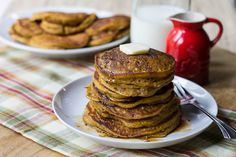 Pumpkin Pancakes with Bourbon Vanilla Syrup...