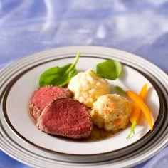 Découvrez la recette Rosbeef aux deux purées sur cuisineactuelle.fr.