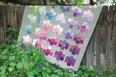 Graded colors wash across this easy-to-piece scrappy lap size quilt. Pretty Gemstones features a linen/cotton blend background fabric, for added texture and depth...give it a try!