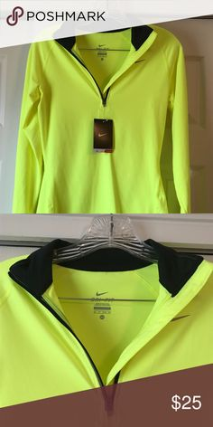 3405dfa08b5 NWT Nike Dri-Fit Bright Yellow trimmed in black NWT Dri- Fit Nike Half