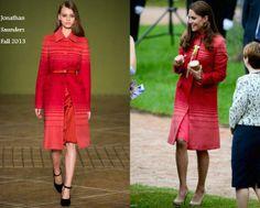 Kate Middleton In Jonathan Saunders - Duke and Duchess Of Cambridge Visit Scotland. Re-tweet and favorite it here: https://twitter.com/MyFashBlog/status/472072931451752448/photo/1