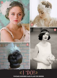 Love this! I so wish I had somewhere to wear them!For those who are planning a vintage wedding look.