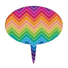 Get a Modern cake topper from Zazzle. Shop for your cake topper now! School Binders, Rainbow Chevron, Like A Rock, Gift Cake, Cake Toppers, Modern, Party, Pattern, Fun