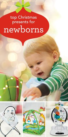 Christmas Presents for Newborns - Looking for the right gift for your little Christmas angel? These toys and activities were chosen by our baby experts and feature different sounds, shapes, patterns and textures that encourage newborns to reach out, touch and explore their worlds. From play gyms and mobiles to books and soothers, check out this collection of First Christmas gifts, perfect for babies, 0-3 months. #BRUChristmas