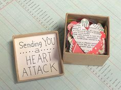 Heart attack - a creative way to cheer someone up! :)