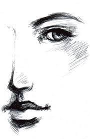 Risultati immagini per female face sketch