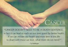 """Amen to that! Ty Bollinger states, """"Cancer doesn't need to be a death sentence. In fact it can lead us each on our own quest for better health. If we can reclaim our health and more time in this life to share with those we love, what more do we need?"""" Please re-pin to support us on our mission to educate, expose, & eradicate cancer naturally! Together we'll empower the world with life-saving knowledge! Join us for much more great information on The Truth About Cancer! <3"""