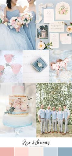 Romantic Rose Quartz & Serenity Blue Wedding Ideas || Pink & Blue Wedding Inspiration || Pastel Wedding Ideas