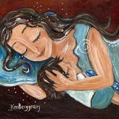 Mama's Milkies - 5 - art from the book print by Katie m. Berggren