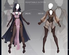 [closed] adoptable outfits auction by Eggperon on DeviantArt Anime Outfits, New Outfits, Cool Outfits, Clothing Sketches, Dress Sketches, Dress Drawing, Drawing Clothes, Alternative Outfits, Alternative Fashion