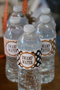 DIY Printable Swamp Water  WATER BOTTLE by LaurenHaddoxDesign, $5.00