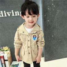 2017 new Baby gril Spring Autumn fashion cotton long jackets coat kids girl  toddler Korea trench princess dresses crothes  #Affiliate