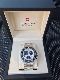 Victorinox Swiss Army Summit XLT Chrono Watch W/ White Dial 214339  | eBay