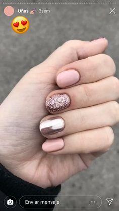 nails - perfect winter nail designs to make you feel warm 4 - Cute Summer Nail Designs, Winter Nail Designs, Short Nail Designs, Simple Nail Designs, Stylish Nails, Trendy Nails, Cute Nails, Shellac Nails, My Nails