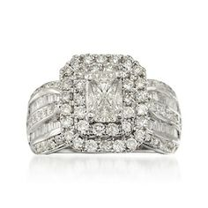 2.00 ct. t.w. Diamond Engagement Ring in 14kt White Gold