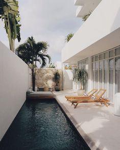Design Patio, Exterior Design, Interior And Exterior, Houses Architecture, Architecture Design, Dream Home Design, House Design, Bali Accommodation, Small Pool Design