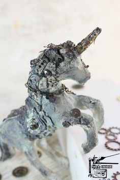 Mixed Media Unicorn by Phoebe Tonosaki