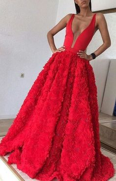 Red Prom Dresses, Long Prom Dresses, Backless Prom Dresses, Long Red Prom Dresses, Princess Prom Dresses, Prom Dresses Red, Tulle Prom Dresses, A Line Prom Dresses, A Line dresses, Long Evening Dresses, Long Red dresses, Red Long dresses, Backless Evening Dresses, Flower Prom Dresses, A-line/Princess Prom Dresses
